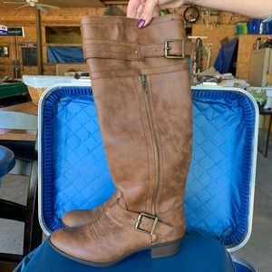 JustFab Brown Boots, Size 8